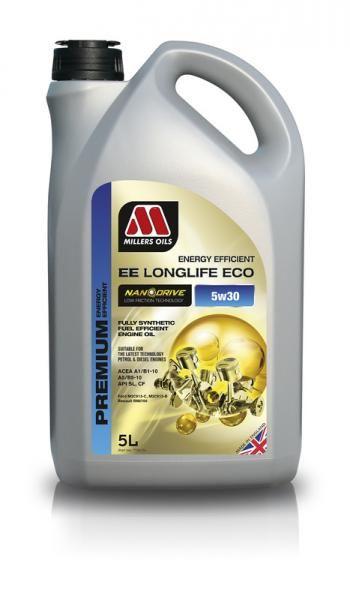 Motorový olej Millers Oils Nanodrive Energy Efficient Longlife ECO 5w30 - 5l - plně syntetický low-friction motorový olej