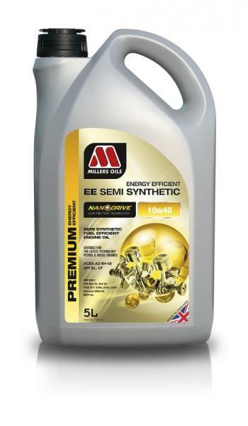 Motorový olej Millers Oils Nanodrive Energy Efficient Semi Synthetic 10w40 - 5l - polosyntetický low-friction motorový olej