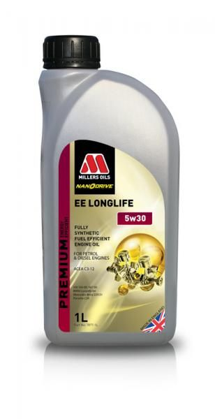 Motorový olej Millers Oils Nanodrive Energy Efficient Longlife 5w30 - 1l - plně syntetický low-friction motorový olej