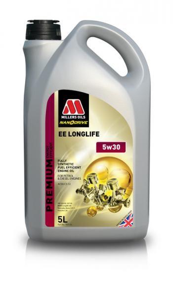 Motorový olej Millers Oils Nanodrive Energy Efficient Longlife 5w30 - 5l - plně syntetický low-friction motorový olej