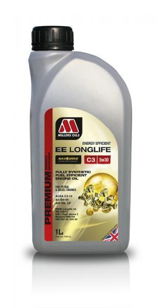 Motorový olej Millers Oils Nanodrive Energy Efficient Longlife C3 5w30 - 1l - plně syntetický low-friction motorový olej