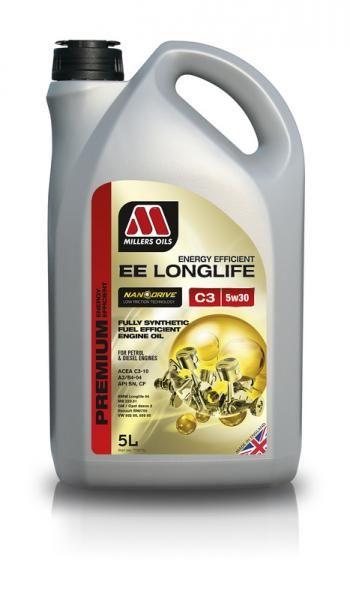 Motorový olej Millers Oils Nanodrive Energy Efficient Longlife C3 5w30 - 5l - plně syntetický low-friction motorový olej