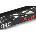 Podložka pod SPZ 3D Audi červené