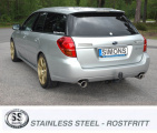 Catback výfuk Simons Subaru Legacy / Outback kombi 3.0R (04-09)