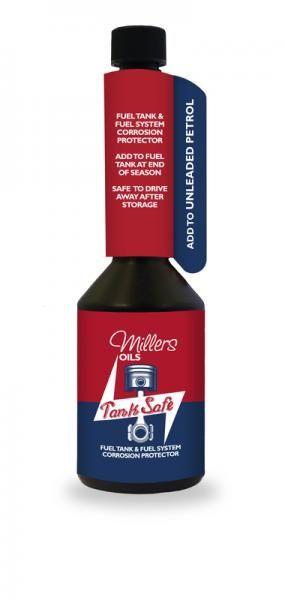Benzínové antikorozní aditivum Millers Oils Tank Safe - 250ml