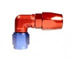 """Fitinka koleno 90° D-04 (AN4) 7/16""""x20-UNF - cutter-system - šroubovací (zesílená s ostrým úhlem)"""
