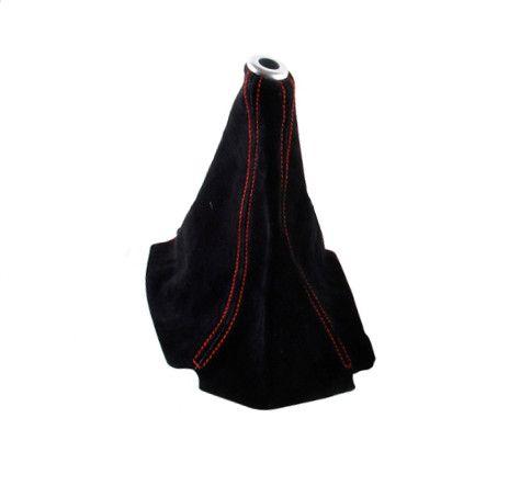 Manžeta na řadící páku Epman - PVC broušená kůže s červeným prošíváním