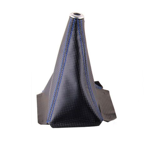 Manžeta na řadící páku Epman - PVC kůže karbon look s modrým prošíváním