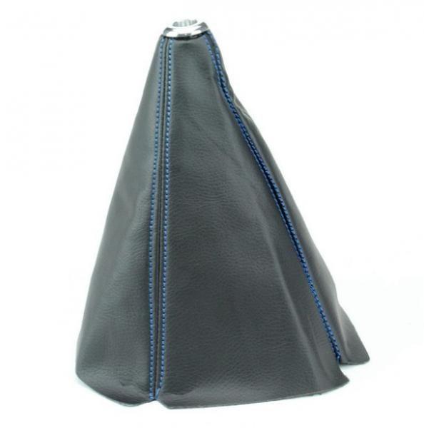 Manžeta na řadící páku Epman - PVC kůže s modrým prošíváním