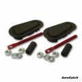 Zámky / držáky kapoty Aerocatch - carbon look (spodní uchycení)