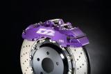 Přední brzdový kit D2 Racing pro Saab 9-5 (02-10), 8-pístkové brzdiče, plovoucí kotouče 380x32mm