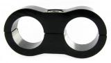 Separátor na vedení - průměr 2x 16,7mm - černý