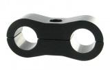 Separátor na vedení - průměr 2x 9,5mm - černý