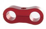 Separátor na vedení - průměr 2x 9,5mm - červený