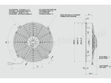 Vysoce výkonný ventilátor Spal - sací, průměr 305mm, 24V