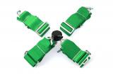 Bezpečnostní pás 4-bodový zelený - 75mm