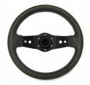 Sportovní volant SW555 - 350mm kůže / 90mm - černý/černý
