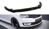 Přední spoiler nárazníku Škoda Rapid Standard version 2013 - | Dezén, Černý lesk, Imitace carbonu