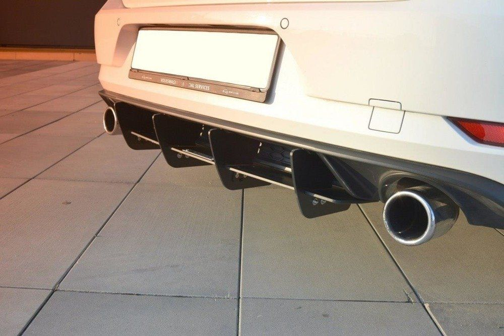 Zadní difuzor VW Golf mk7 GTI Facelift version 2017 - Maxtondesign