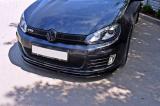 Přední spoiler nárazníku VW Golf VI GTI 2008-2012 Maxtondesign