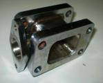 Redukční adaptér na turbo T3 > T3 + wastegate 38mm (nerezová ocel)