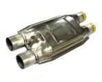 Náhrada katalyzátoru (rezonátor) ProRacing 2x 50mm (duální) - ocel