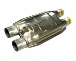Náhrada katalyzátoru (rezonátor) ProRacing 2x 55mm (duální) - ocel