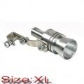 Imitace turbo efektu / blow off ventilu / píšťala do výfuku - velikost XL (Ø 56-85mm)