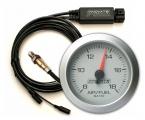 Přídavný budík Innovate Motorsports G2 + LC-2 O2 kontrolér - wideband kit (širokopásmová lambda sonda) - stříbrný
