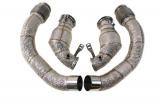 Downpipes s náhradami katalyzátorů a středové díly TurboWorks BMW F90 M54.4 V8 S63 Twin-turbo (17-)