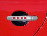 Kryty klik - děrované, stříbrné matné, (4+4 ks bez zámku)