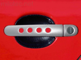 Kryty klik - děrované, stříbrné matné, (4+4 ks jeden zámek)