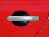 Kryty klik plné, stříbrné matné, (4+4 ks bez zámku)