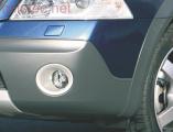 Rámečky mlhových světel - stříbrné matné, Octavia II. RS/Scout, 2005-2009