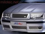 Třídílná mřížka nárazníku - nerez, s mlhovkami, Škoda Octavia I. Facelift 2000-2005