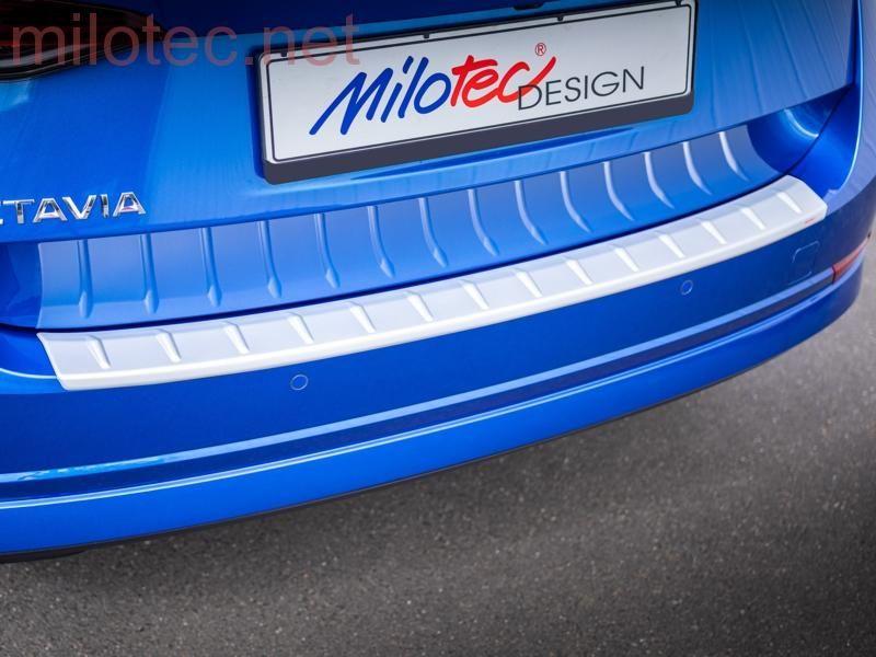 Práh pátých dveří s výstupky, stříbrný matný, Škoda Octavia IV. Combi / Combi RS, od r.v. 2019 Milotec
