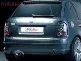 Rozšíření zadního nárazníku - stříbrné matné, Fabia I. Limousine 2000-2007