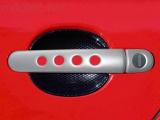 Kryty klik - děrované, stříbrné matné, (2+2 ks dva zámky), Roomster 2006-2010 / Roomster Facelift od