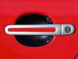 Kryty klik - oválný otvor, stříbrné matné, (2+2 ks dva zámky), Roomster 2006-2010 / Roomster Facelif