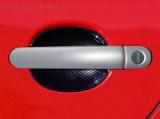 Kryty klik - plné, stříbrné matné, (2+2 ks jeden zámek), Roomster 2006-2010 / Roomster Facelift od r