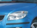 Kryty světlometů (rámečky), stříbrné matné, Fabia II. Lim./Combi/Scout 2007-2010, Roomster/Scout 200