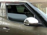 Kryty zpětných zrcátek - leštěný nerez, Yeti 2009-2013 / Yeti Facelift od r.v. 2013
