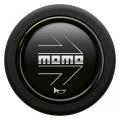 Tlčítko klaksonu Momo pro sportovní volant - černé/stříbrné