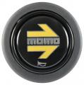 Tlčítko klaksonu Momo pro sportovní volant - černé/žluté