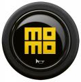 Tlčítko klaksonu Momo pro sportovní volant - černé/žluté Heritage