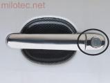 Kryty klik malé, nerez (ušlechtilá ocel), 2x s otvorem + 2x bez,Škoda Fabia I. 2000-2004