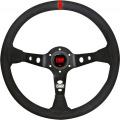 Volant OMP Corsica 350mm - černý/červený - semiš