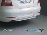 Difuzor zadního nárazníku - pro lak - sedan/combi, Škoda Octavia II facelift