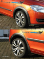 Lemy blatníků - černý desén Fabia II facelift, Škoda Fabia II