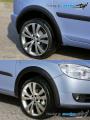 Lemy blatníků - černý desén Roomster facelift, Škoda Roomster